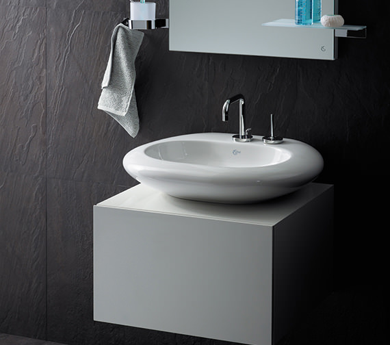 Additional image of Ideal Standard SimplyU 2 Hole Basin Mixer With 2 Round Backplates