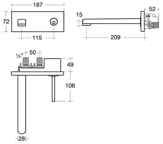 Technical drawing QS-V40307 / A4483AA