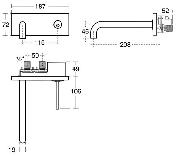 Technical drawing QS-V40309 / A4490AA