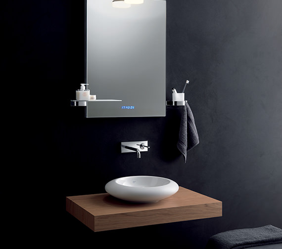 Additional image of Ideal Standard SimplyU Cylindrical Spout Wall Mounted Basin Mixer
