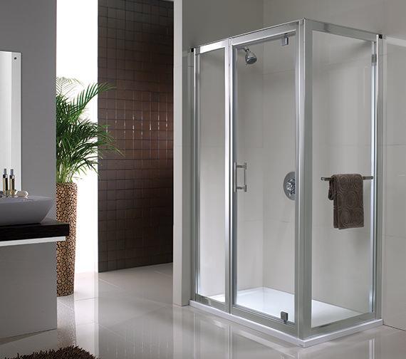 Twyford Geo6 180 Pivot Shower Enclosure Door 760mm - G63600CP