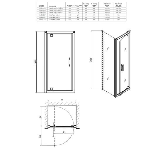 Technical drawing QS-V40335 / G64600CP