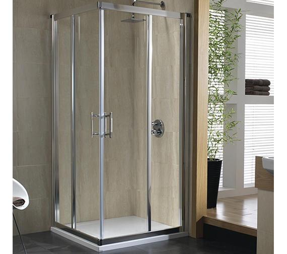 Twyford Geo6 Corner Entry Shower Cabin 900mm - G65303CP