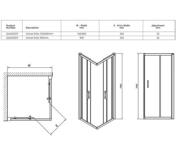Technical drawing QS-V40338 / G65303CP