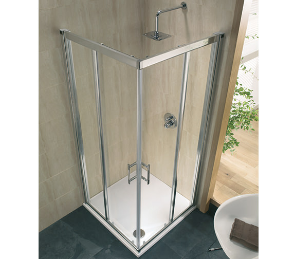 Additional image of Twyford Geo6 Corner Entry Shower Cabin 900mm - G65303CP