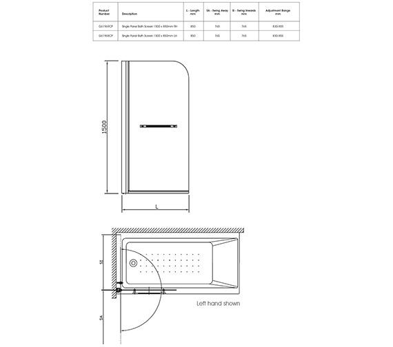 Technical drawing QS-V40339 / G61968CP