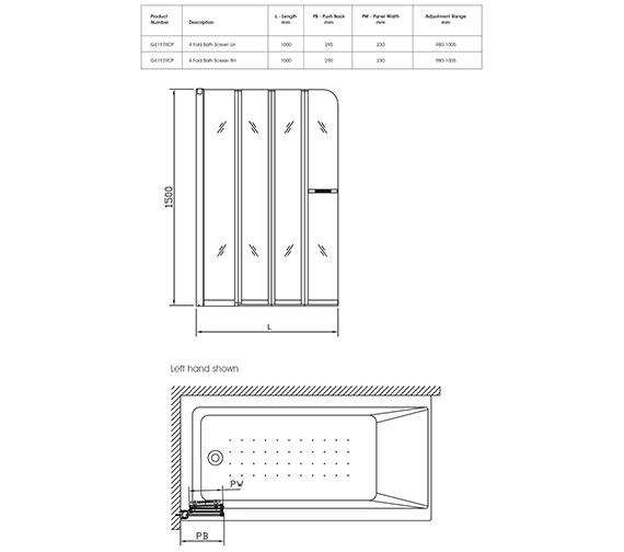 Technical drawing QS-V40340 / G61979CP