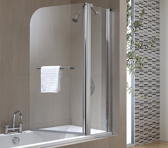 Twyford Geo6 2 Panel Bath Screen 1500 x 1200mm