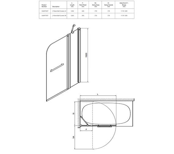 Technical drawing QS-V40341 / G68979CP