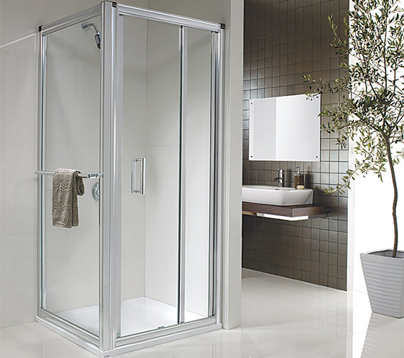 Twyford Hydr8 In-fold Shower Enclosure Door 900mm - H85900CP