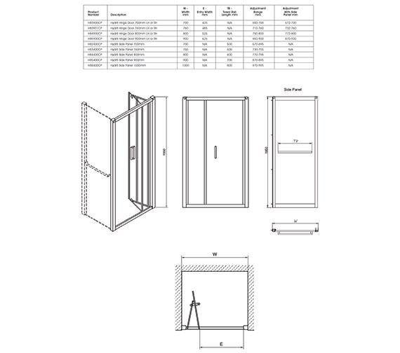 Technical drawing QS-V40345 / H85900CP