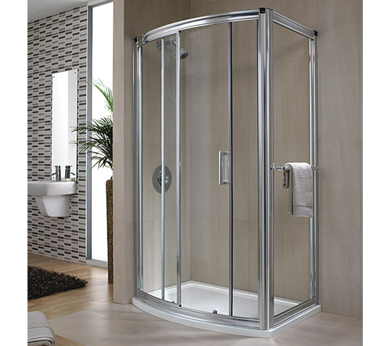 Twyford Hydr8 Bow Sliding Shower Door 1200mm - H88501CP