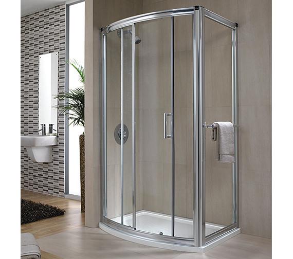 Twyford Hydr8 Bow Sliding Shower Door 1200mm - H88501CP