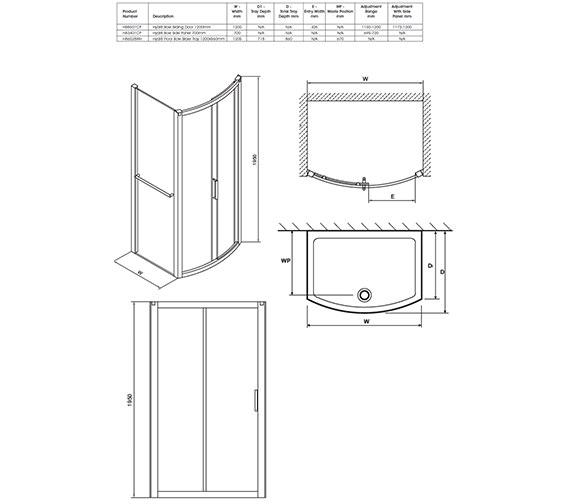 Technical drawing QS-V40346 / H88501CP