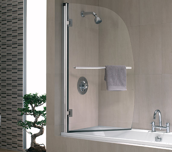 Twyford Hydr8 Sail Panel Bath Screen 1500 x 950mm