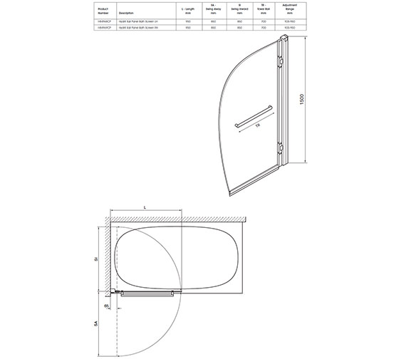 Technical drawing QS-V40348 / H84968CP