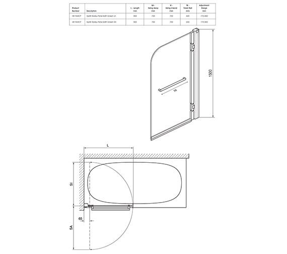 Technical drawing QS-V40349 / H81969CP