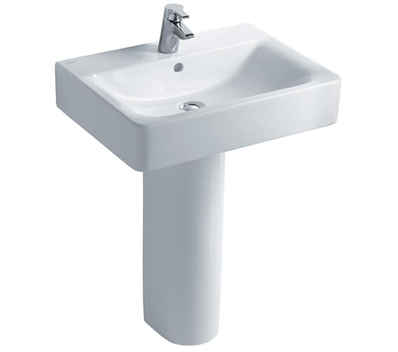 Ideal Standard Concept Cube 600mm 1 Taphole Basin And Full Pedestal