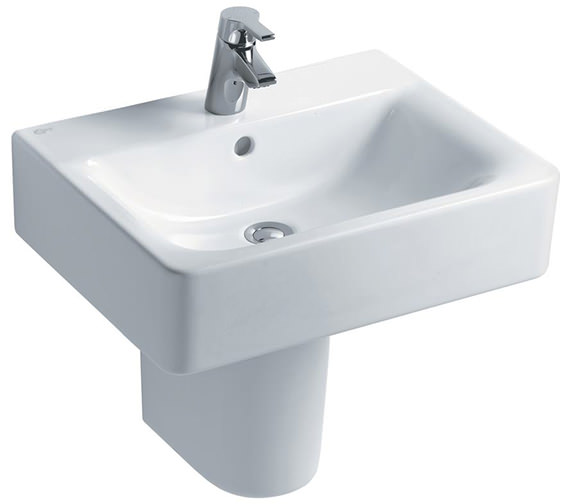 Ideal Standard Concept Cube 550mm 1 Taphole Basin And Full Pedestal