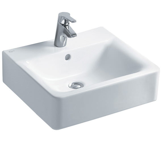 Ideal Standard Concept Cube 500mm 1 Taphole Basin And Full Pedestal