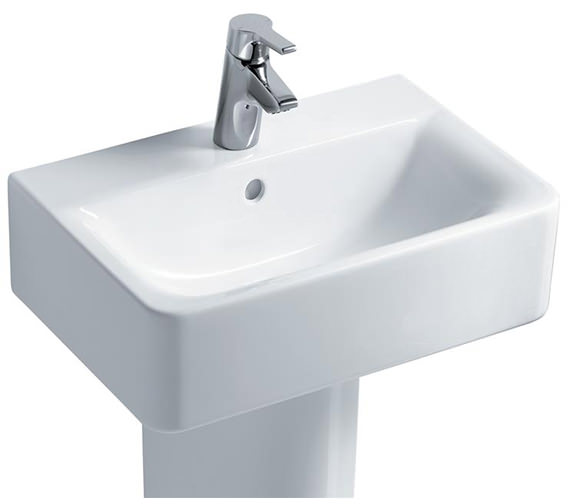Ideal Standard Concept Cube 550mm Short Projection Basin And Pedestal