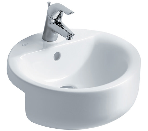 Ideal Standard Concept Sphere 450mm 1 Taphole Semi-Countertop Washbasin