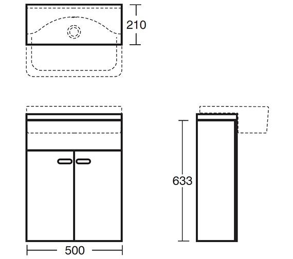 Technical drawing QS-V40381 / E6458SO