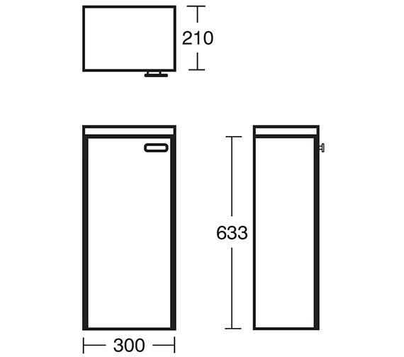 Technical drawing QS-V40385 / E6462WG