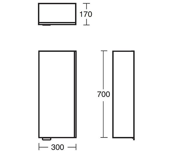 Technical drawing QS-V40386 / E6470WG