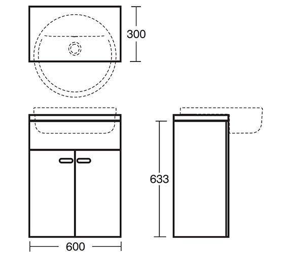Technical drawing QS-V40390 / E6454SO