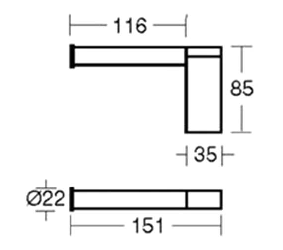 Technical drawing QS-V40400 / N1316AA