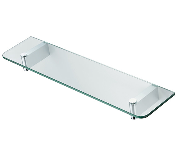 ideal standard concept 500mm glass shelf with brackets n1324aa more sizes available. Black Bedroom Furniture Sets. Home Design Ideas