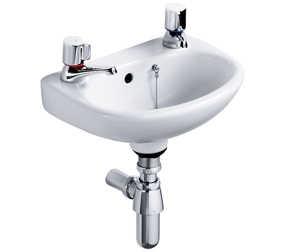 Ideal Standard Studio 450mm Handrinse Basin With Two Tap Holes