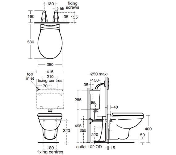 Technical drawing QS-V40436 / R341901