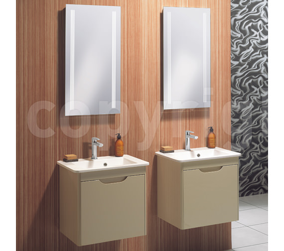 Alternate image of Bauhaus Solo Back Lit Mirror 425 x 800mm