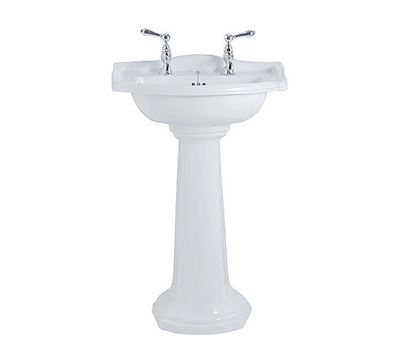 Additional image of Imperial Drift 540mm Small Basin And Full Pedestal White