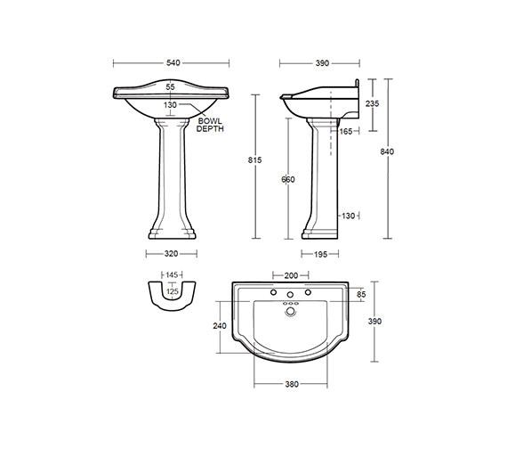 Technical drawing QS-V40499 / DR1SB11030