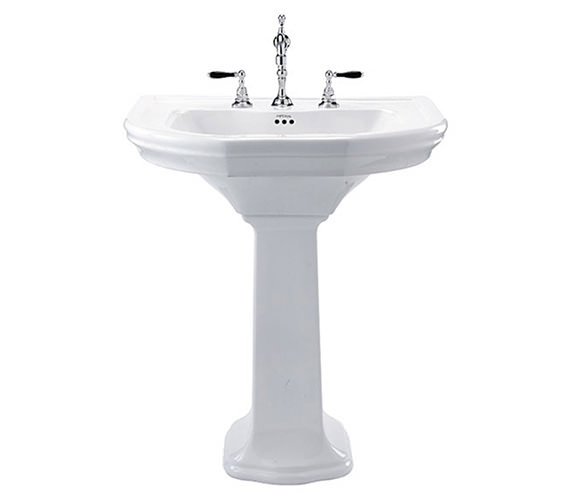 Imperial Bergier 705mm Large Basin And Full Pedestal - BE1LB11030