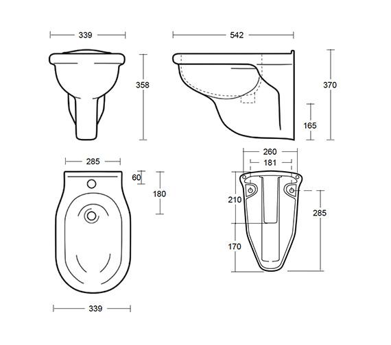 Technical drawing QS-V40508 / BE1BH11030