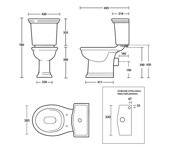 Technical drawing QS-V40511 / BE1WC01030