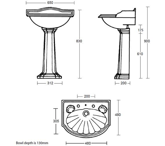 Technical drawing QS-V40520 / OX1LB11030