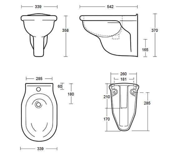 Technical drawing QS-V40544 / FI1BH11030