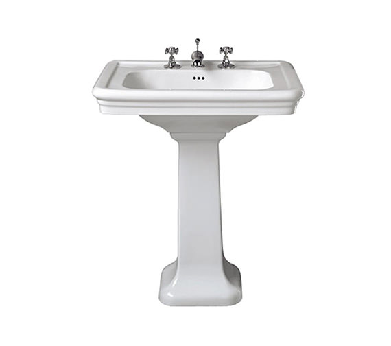 Alternate image of Imperial Etoile 700mm Large Basin With Full Pedestal White