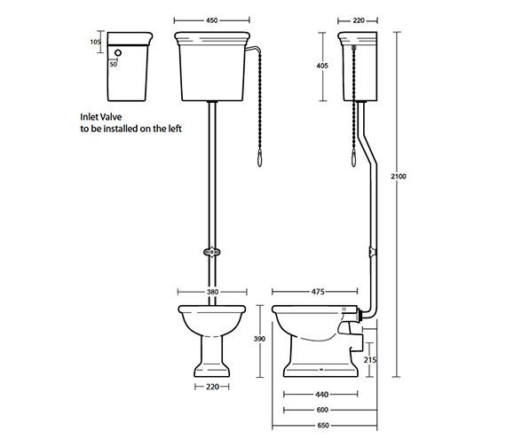 Technical drawing QS-V40554 / ET1WC01030