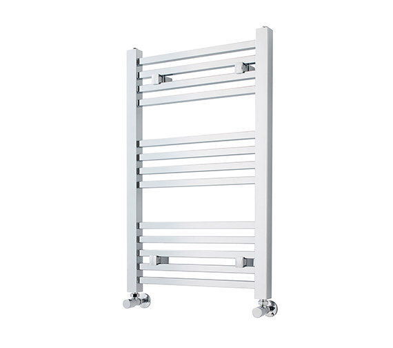 Lauren Electric Only 500 X 700mm Heated Ladder Chrome: Lauren Square Ladder Rail 500 X 800mm Chrome