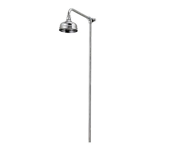 Victorian Rigid Riser With 5 Inches Flowmaster Shower Head