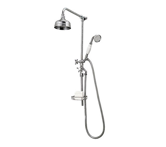 Imperial Victorian Rigid Riser Kit With 8 Inches Shower Head