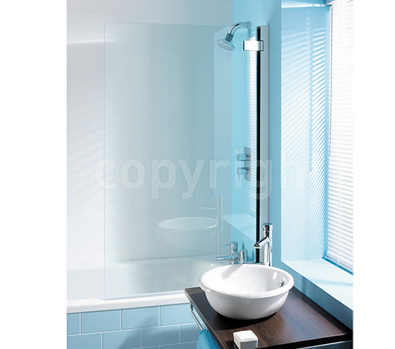 Simpsons Classic 8mm Clear Glass Hinged Bath Screen 860 x 1385mm
