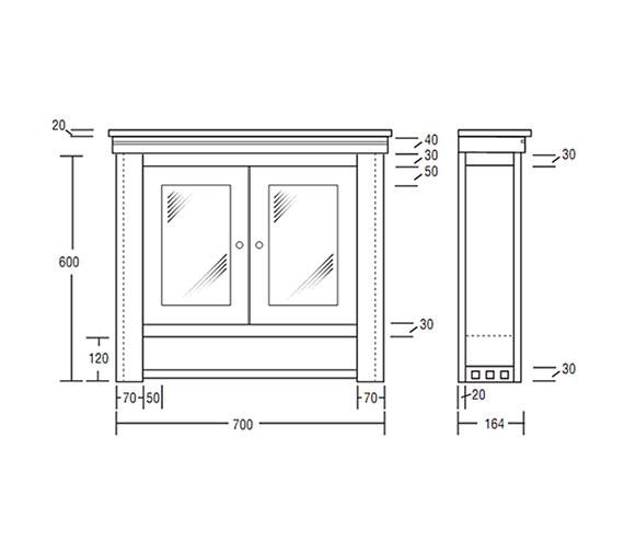 Technical drawing QS-V40655 / XWC0012020