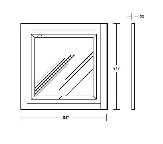 Technical drawing QS-V40663 / XG3900030G
